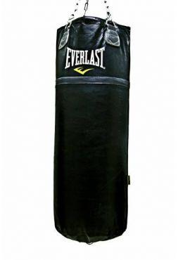 Мешок боксерский Everlast Super Leather 125LB 55кг черный