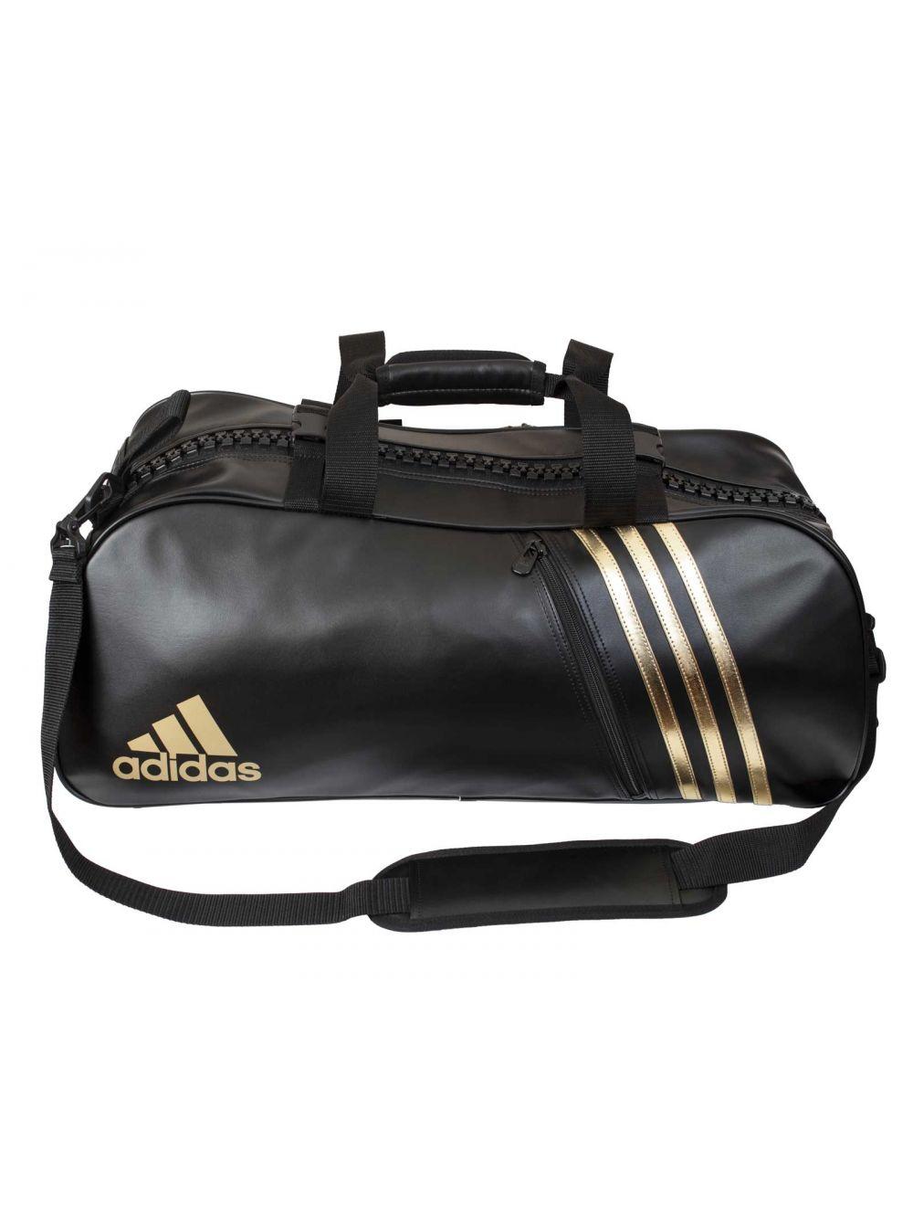 19ef5536727c Купить спортивную сумку «Adidas Super Sport Bag Budo M» черно-золотую