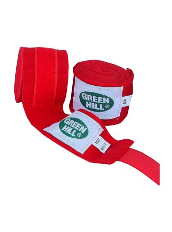 Боксерские бинты Green Hill BANDAGES POLYESTER красные