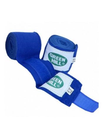 Боксерские бинты Green Hill BANDAGES POLYESTER синие
