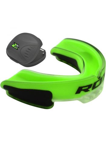 Капа RDX Gum Shield Gel Mouthguard зеленая