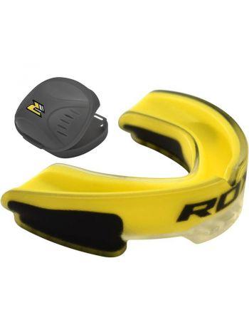 Капа RDX Gel Mouthguard Gum Shield желтая