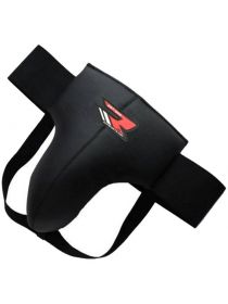 Защита паха RDX Leather-X Groin Guard Protector черная