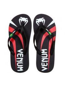 Сланцы Venum Flip-Flops черно-красные