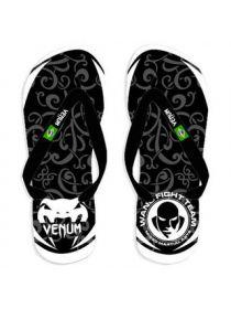 Сланцы Venum Flip-Flops черно-белые с узорами