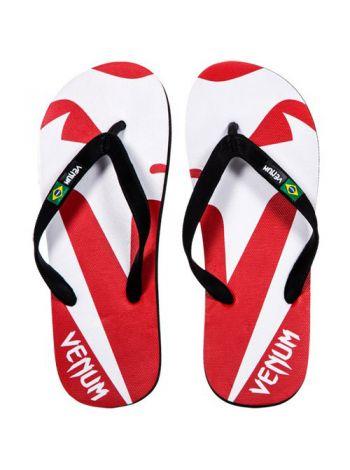 Сланцы Venum Flip-Flops красно-белые