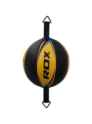 Скоростная боксерская груша RDX Boxing Cow Hide черно-желтая