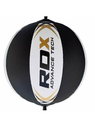 Скоростная груша для бокса RDX Punching Double черно-белая