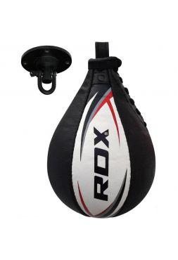 Боксерская груша RDX Cow Hide Leather черно-белая