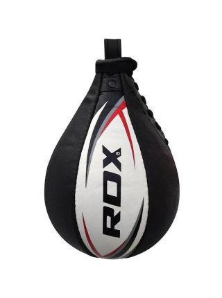 Груша для бокса RDX Cow Hide Leather черно-белая
