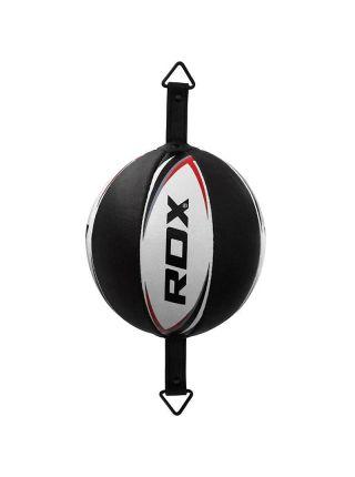 Скоростная боксерская груша RDX Cow Hide Leather Boxing черно-белая