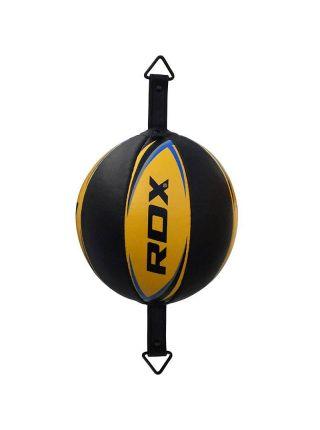Скоростная боксерская груша RDX Cow Hide Leather Boxing черно-желтая