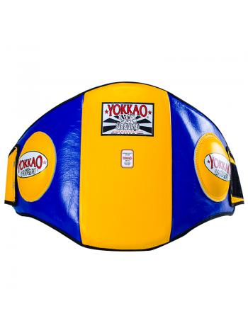 Пояс тренера YOKKAO Belly Pad желто-синий