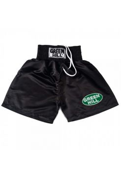 Боксерские шорты GREEN HILL BOXING SHORTS PROFESSIONAL черные