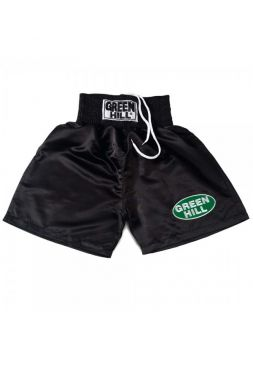 Шорты для бокса GREEN HILL BOXING SHORTS PROFESSIONAL черные