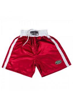 Боксерские шорты GREEN HILL BOXING SHORTS ELITE красные
