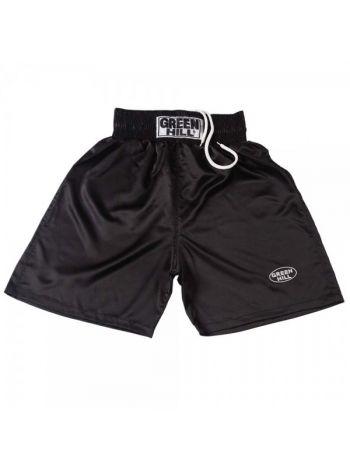 Боксерские шорты GREEN HILL BOXING SHORTS IRON черные