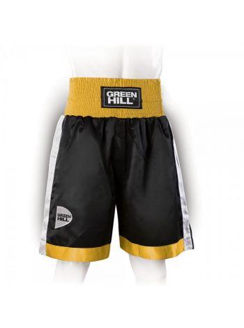 Шорты для бокса GREEN HILL PIPER черно-золотые