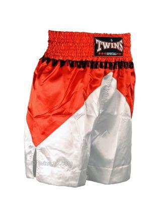 Боксерские шорты TWINS красно-белые BTS-04