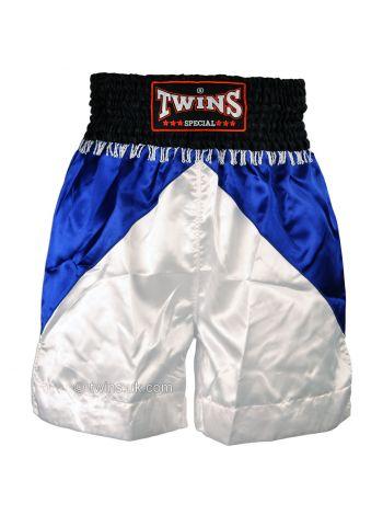 Боксерские шорты TWINS бело-синие BTS-05