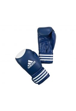 Боксерские перчатки Adidas Ultima Competition Target WAKO сине-белые