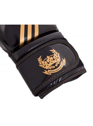 Боксерские перчатки Adidas Hybrid Aero Tech черно-золотые