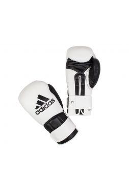Боксерские перчатки Adidas Super Pro Safety бело-черные