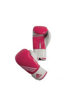 Боксерские перчатки Adidas Fitness розово-белые