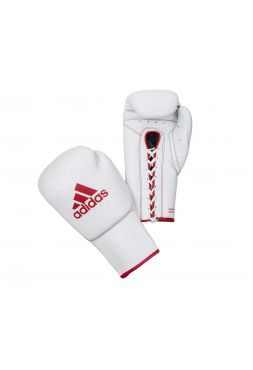 Боксерские перчатки Adidas Glory Professional бело-красные