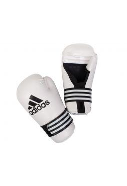 Перчатки карате Adidas Semi Contact белые