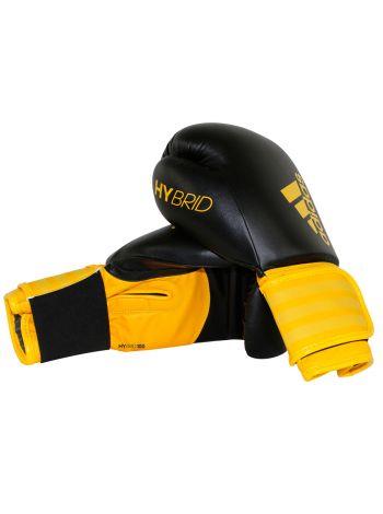 Боксерские перчатки Adidas Hybrid 100 черно-желтые