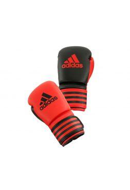 Боксерские перчатки Adidas Power 200 Duo Mat красно-черные