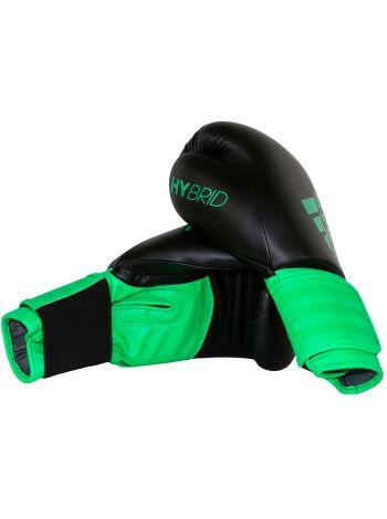 Боксерские перчатки Adidas Hybrid 100 черно-зеленые