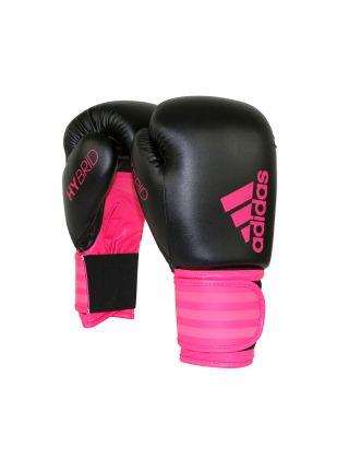 Боксерские перчатки Adidas Hybrid 100 Dynamic Fit черно-розовые