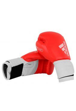 Боксерские перчатки Adidas Hybrid 100 красно-белые