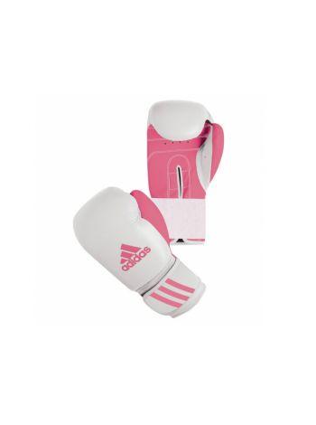 Боксерские перчатки Adidas Response бело-розовые