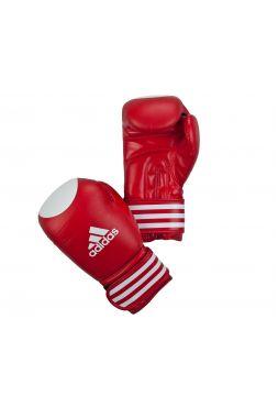 Боксерские перчатки Adidas Ultima Competition Target WAKO красно-белые