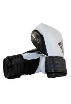 Боксерские перчатки Adidas Hybrid 200 бело-черные
