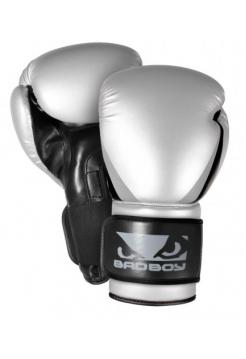 Боксерские перчатки BAD BOY SERIES 2.0 серебряные
