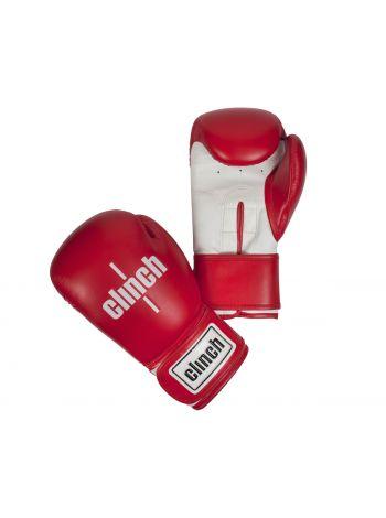 Боксерские перчатки Clinch Fight красно-белые