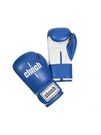 Боксерские перчатки Clinch Fight сине-белые