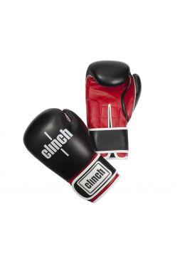Боксерские перчатки Clinch Fight черно-красные