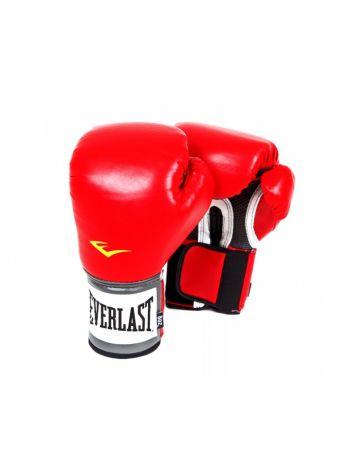 Боксерские перчатки Everlast PU PRO красные