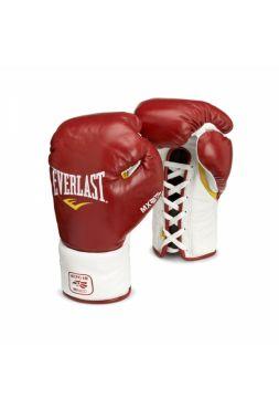 Боксерские перчатки боевые Everlast MX PRO FIGHT красные