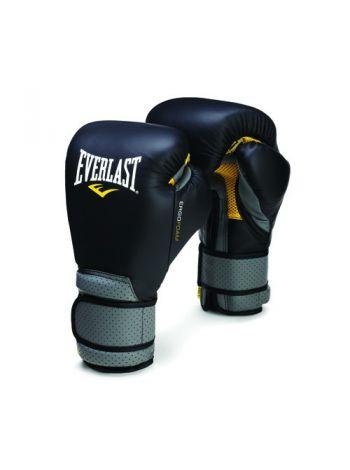 Боксерские перчатки Everlast ERGO FOAM черно-серые