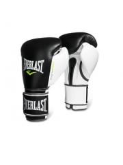 Боксерские перчатки Everlast POWERLOCK черно-белые