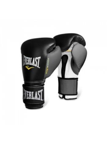 Боксерские перчатки Everlast POWERLOCK черно-серые