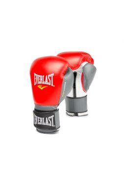 Боксерские перчатки Everlast POWERLOCK красно-серые