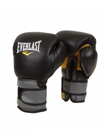 Перчатки для бокса Everlast PRO LEATHER STRAP черные