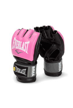 Перчатки ММА Everlast PRO STYLE розовые